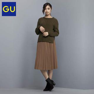 GU - 【新品・タグ付き】GU ケーブルセーター オリーブ