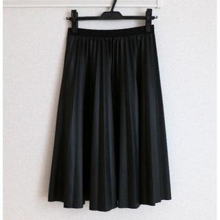 デンドロビウム(DENDROBIUM)のBABYLONE バビロン DENDROBIUM プリーツスカート 黒(ひざ丈スカート)