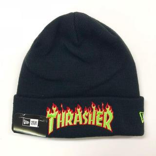 スラッシャー(THRASHER)の【SALE】 NEWERA × THRASHER[フレイムロゴニット](ニット帽/ビーニー)
