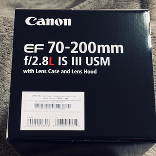 Canon - 新品 Canon EF70-200mm F2.8L IS III USM