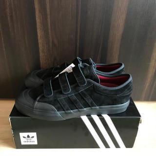 アディダス(adidas)のオールブラック 新品未使用 アディダス マッチコート ベルクロ 29センチ(スニーカー)