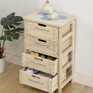 木製ボックス 3段 不二貿易 幅40cm ナチュラル