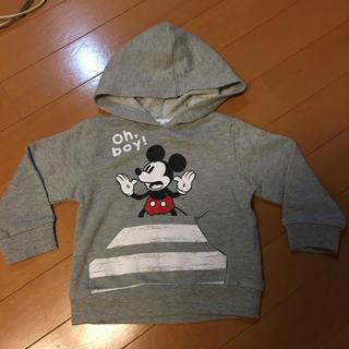 ディズニー(Disney)のミッキー パーカー80(シャツ/カットソー)