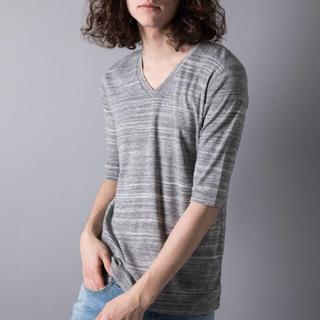 ガルヴァナイズ(Galvanize)の新品 未使用 galvanize ガルバナイズ 杢Vネック5分Tシャツ(Tシャツ/カットソー(半袖/袖なし))