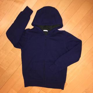 ジーユー(GU)のGU 裏起毛パーカー size150 ネイビー/グリーンMPSパンツセット(ジャケット/上着)