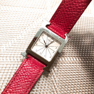 a22637efcc9a エルメス Hウォッチ 腕時計(レディース)(レッド/赤色系)の通販 9点 ...
