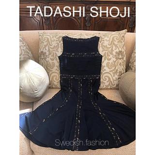 TADASHI SHOJI - 新品同様◆TADASHI SHOJI◆サイズS ダークネイビーワンピ