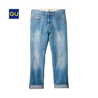 GU - (GU)ボーイフレンドジーンズ BLUE 64 美品