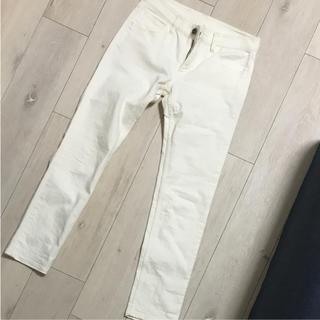 MUJI (無印良品) - 無印良品  白デニム  パンツ  値下げ!