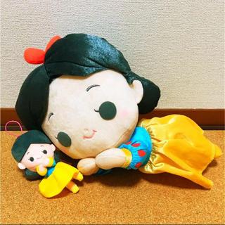シラユキヒメ(白雪姫)の[2点セット]ディズニープリンセス 白雪姫寝そべりぬいぐるみ 白雪姫キーホルダー(キャラクターグッズ)