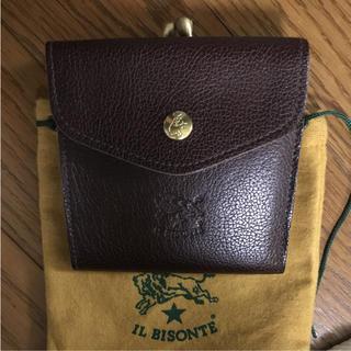 イルビゾンテ(IL BISONTE)のイルビゾンテ 財布 がま口 コインケース 新品未使用 送料無料(折り財布)