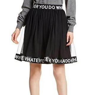 ウィゴー(WEGO)のロゴ入り スカート WEGO 白(ひざ丈スカート)