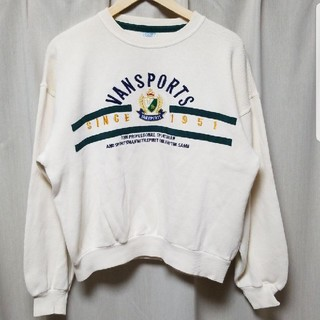 ヴァンヂャケット(VAN Jacket)のレア!90s VAN SPORTS ヴィンテージ トレーナー 刺繍ロゴ(スウェット)