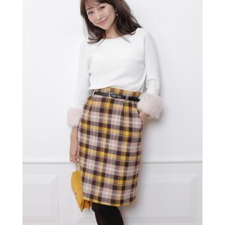 アプワイザーリッシェ(Apuweiser-riche)のチェックタイトスカート(ひざ丈スカート)