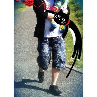 カラクリタマシイ(絡繰魂)の【 和柄 】ジーンズ ショート サイズ38(デニム/ジーンズ)