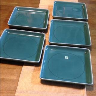 ハクサントウキ(白山陶器)の白山陶器  角皿  5枚  新品未使用(食器)