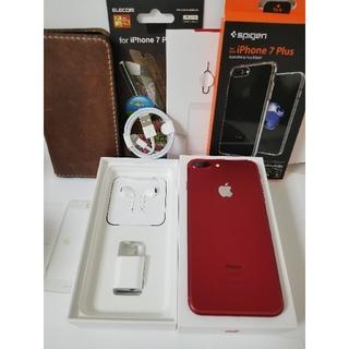 iPhone - docomo iphone7plus 256 RED SIMロック解除済み