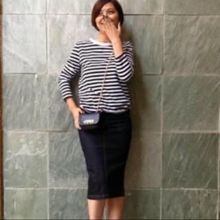 ドゥーズィエムクラス(DEUXIEME CLASSE)のドゥーズィエムクラス デニムスカート(ひざ丈スカート)