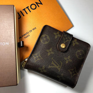 LOUIS VUITTON - ルイヴィトン モノグラム 折り財布 コンパクトジップ
