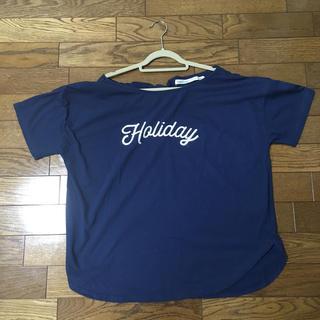 コルテラルゴ(CorteLargo)の半袖Tシャツ(ブルー)(Tシャツ(半袖/袖なし))