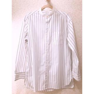 ウィゴー(WEGO)のロングシャツ ストライプ 白(シャツ)