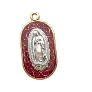 グアダルーペの聖母 メキシコ メダイ ネックレス ステンドグラス