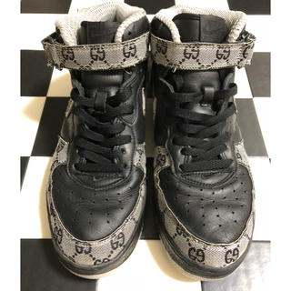 NIKE - NIKE AIR FORCE 1 MID GUCCI柄 黒灰 28.5㎝