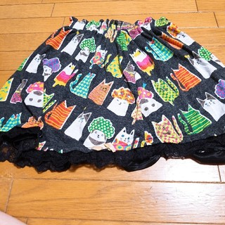 スカラー(ScoLar)のscolar猫柄リバーシブルスカート(ミニスカート)