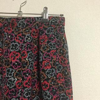vintage✳︎レトロなお花のふんわりスカート(ひざ丈スカート)