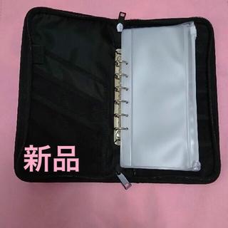 MUJI (無印良品) - 【大人気】無印パスポートケース✨黒✨(クリアポケット付き)