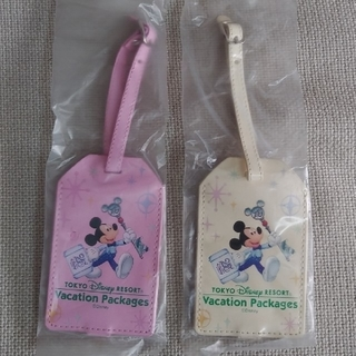 Disney - ネームタグ(ピンク・白) ミッキー