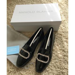 マノロブラニク(MANOLO BLAHNIK)のDrawer購入MANOLO BLAHNIK ビジューフラットシューズ(ローファー/革靴)
