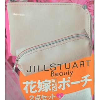 JILLSTUART - 【新品】ジルスチュアート コスメポーチ 印鑑ポーチ 2点セット☆ゼクシィ ピンク