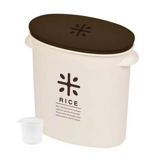 ★お米 袋のまま ストック 日本製 米びつ 5kg ブラウン