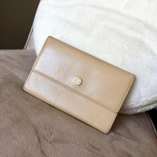 シャネル(CHANEL)のCHANEL シャネル♡ココボタン 長財布 折り財布♡ベージュ(財布)