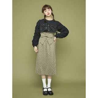 メリージェニー(merry jenny)のハイウエストリボンスカート(ひざ丈スカート)