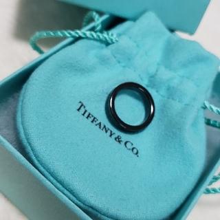 """ティファニー(Tiffany & Co.)のTiffany ブラックチタンリング""""1837"""" #7(リング(指輪))"""