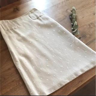 ミナペルホネン(mina perhonen)のミナペルホネン  shell hole(ひざ丈スカート)