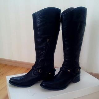 オゥバニスター(AU BANNISTER)のBANNISTER ロングブーツ ブラック イタリア製 371/2 1回のみ着用(ブーツ)