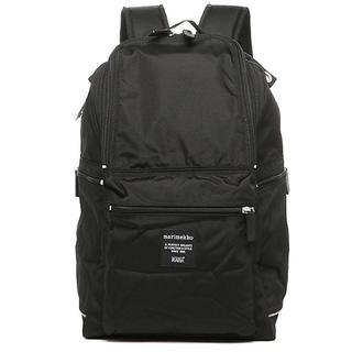 マリメッコ(marimekko)の新品 マリメッコ バッグ バディ リュック 黒 バックパック ナイロン 生地 鞄(リュック/バックパック)