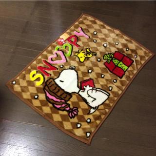 スヌーピー(SNOOPY)の新品 スヌーピー ニューマイヤー クオーターケット(ひざ掛け) 70x 100㎝(毛布)