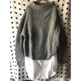 ケービーエフ(KBF)の♡KBFケービーエフ/インナーシャツ付きニットトップス/セーター♡(ニット/セーター)