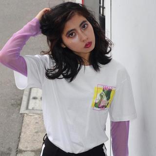 セブンパーセントモアピンク(7% more PINK)の♡7morepink♡レイヤードロンTEE ホワイト 新品(Tシャツ(長袖/七分))