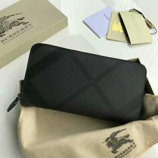 バーバリー(BURBERRY)の超美品 バーバリー 長財布 ノバチェック柄がま口 ブラックかばん(長財布)