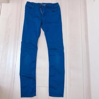 シマムラ(しまむら)のブルー スキニーパンツ  150(パンツ/スパッツ)