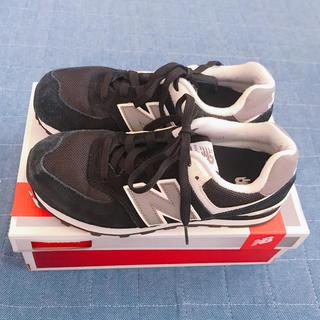 ニューバランス(New Balance)のニューバランス574 黒 21.5(スニーカー)