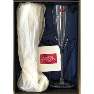 クリスタルダルク(Cristal D'Arques)の【未使用】クリスタル・ダルク シャンパングラス(グラス/カップ)