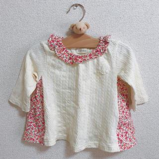 シマムラ(しまむら)のサイズ70 花柄フレアトップス(Tシャツ)