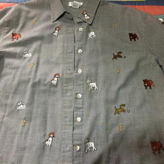 グリモワール(Grimoire)の古着屋 vintage  犬さん 刺繍 シャツ(Tシャツ(半袖/袖なし))
