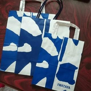 イワタヤ(岩田屋)のショップ袋 3つセット(ショップ袋)